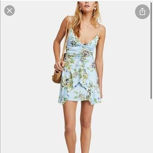 Ruched free people floral dress